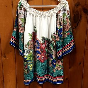 Flying Tomato Boho Floral Paisley Print Dress S
